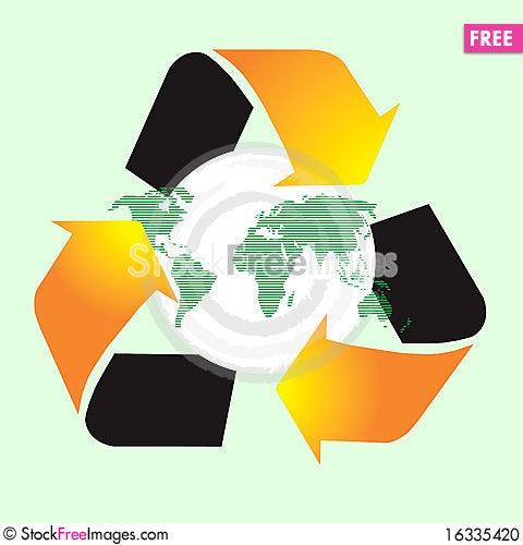 Free Recycle World Symbol Stock Photo - 16335420