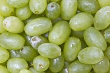 Fresh Green Grapes Background Stock Photo