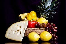 Free Pineapple Cheese Still Life Royalty Free Stock Images - 16330939
