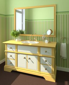 Free Bathroom Interior. Stock Image - 16331121