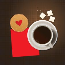 Free Cookie And Cup Of Coffee. Stock Images - 16331364