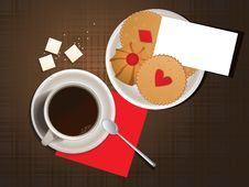 Free Cookies And Cup Of Coffee. Royalty Free Stock Photo - 16331395