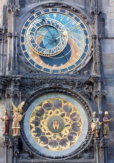 Free Astronomical Clock In Prague Royalty Free Stock Photos - 16331398