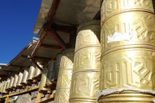 Free Prayer Wheels In Tibet Stock Photos - 16331463