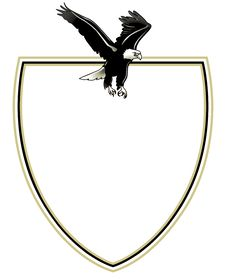 Free Spread Eagle On Emblem Stock Images - 16331464