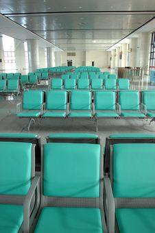 Seats In Waiting Room Stock Photo