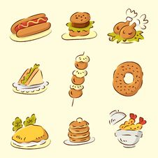 Free Cute Cartoon Food Royalty Free Stock Image - 16333136
