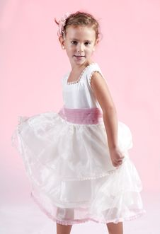Free Young Cute Girl Against Pink Background (2) Royalty Free Stock Photography - 16333607
