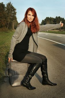 Free Hitchhiking Royalty Free Stock Photo - 16333615