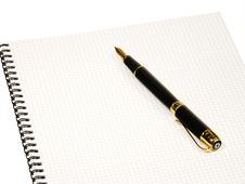 Free Notebook And Pen Stock Photo - 16335130