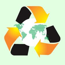 Recycle World Symbol Stock Photo