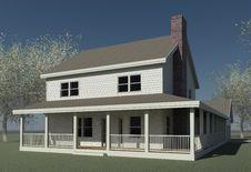 Free Farmhouse With Trees Royalty Free Stock Photo - 16335505