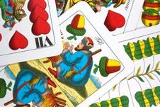 Free Hungarian Playing Cards Royalty Free Stock Photography - 16335877