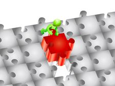 Free Piece Of A Puzzle Royalty Free Stock Photo - 16336455