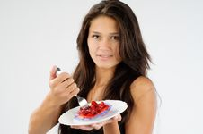 Free Cake And The Girl Series Royalty Free Stock Photo - 16337665