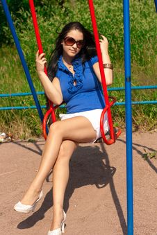 Free Girl On Swing Royalty Free Stock Photo - 16337795