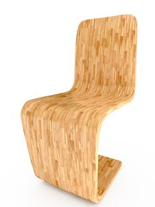 Free Light Wood Chair. 3D Illustration Royalty Free Stock Photos - 16338618