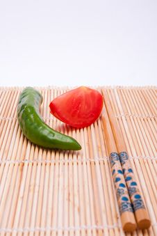 Free Peppers, Tomatoes, Sticks Royalty Free Stock Photo - 16338865