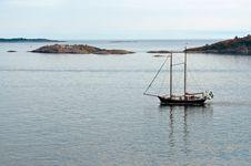 Free Two-masted Ship At Sea Royalty Free Stock Photography - 16339027