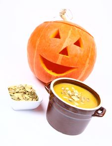 Free Pumpkin Soup Royalty Free Stock Images - 16339029