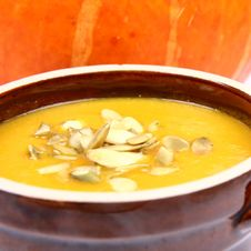 Free Pumpkin Soup Royalty Free Stock Photos - 16339038