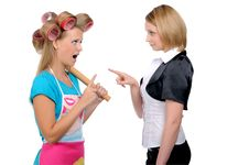 Free Housewife And Businesswoman Stock Photography - 16339162