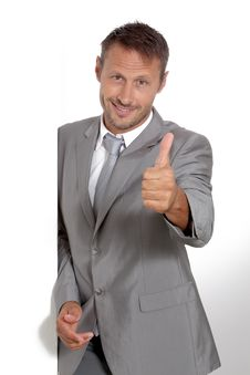 Businessman In Grey Suit Royalty Free Stock Image