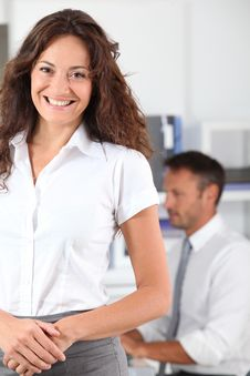 Free Smiling Office Worker Stock Photos - 16339323