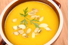 Free Pumpkin Soup Royalty Free Stock Photography - 16339607