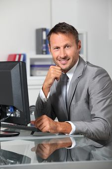 Free Businessman In The Office Royalty Free Stock Image - 16339636