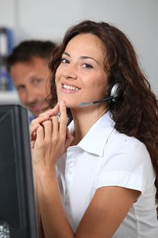 Free Telemarketer Stock Photography - 16339762