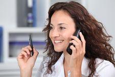Free Businesswoman On The Phone Stock Photos - 16339953