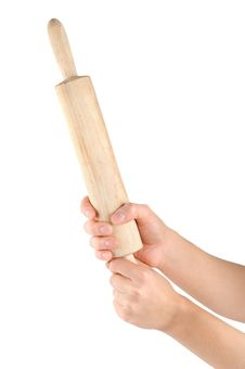 Free Rolling Pin In A Human Arm Stock Photos - 16339983