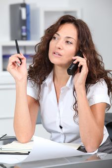 Free Businesswoman On The Phone Royalty Free Stock Photo - 16339995