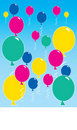 Free Floating Balloons Stock Images - 16348634