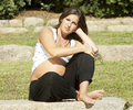 Free Beautiful Pregnant Woman Relaxing Royalty Free Stock Photography - 16348877