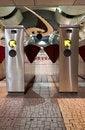 Free Train Station Turnstiles Vertical Stock Photo - 16349470