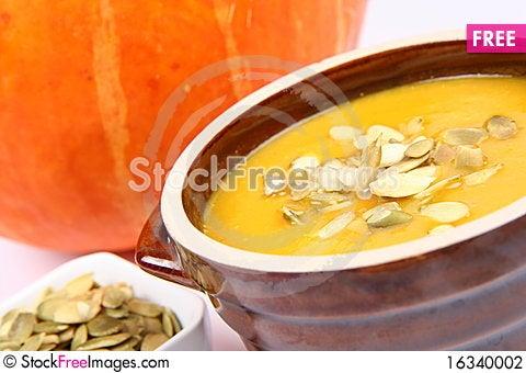 Free Pumpkin Soup Stock Photography - 16340002