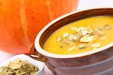 Free Pumpkin Soup Stock Photography - 16340002