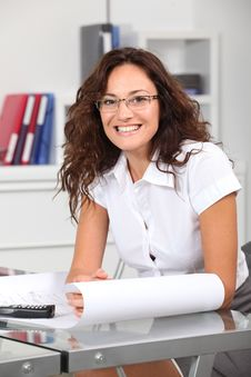 Free Smiling Office Worker Royalty Free Stock Image - 16340016