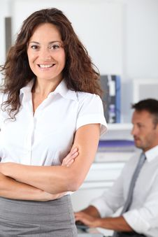 Free Smiling Office Worker Royalty Free Stock Image - 16340036