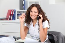 Free Businesswoman On The Phone Stock Image - 16340071