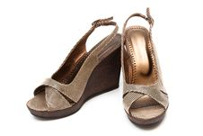 Free Brown Female Shoes Royalty Free Stock Photos - 16340188