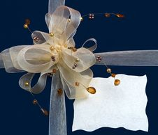 Free Gift Box With Decorative Ribbon Stock Images - 16340324