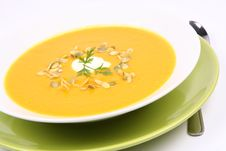 Free Pumpkin Soup Stock Image - 16340361
