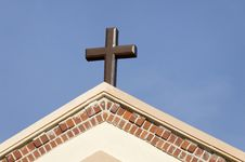 Free Cross Against Blue Sky Stock Photo - 16340590