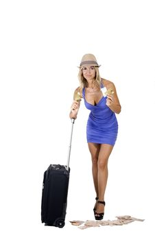 Free Travelling Woman Stock Image - 16340681