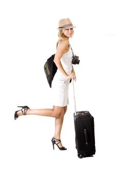 Free Travelling Woman Stock Images - 16340714