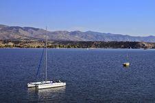 Free Anchored Sailboats Stock Image - 16341391