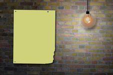 Free Brick Wall Billboard Royalty Free Stock Photography - 16341447